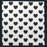 "Black and White Heart Print Cloth Napkins<br><div class=""desc"">These pretty napkins with a star pattern add style and interest to your table.</div>"