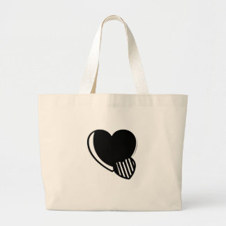 Black and White Hearts Tote Bag