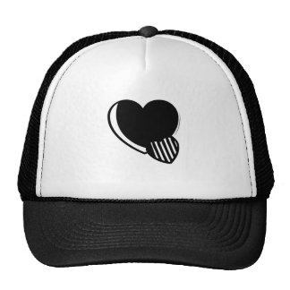 Black and White Hearts Trucker Hat