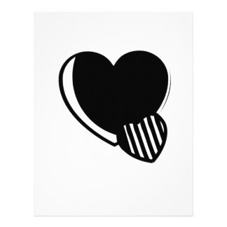 Black and White Hearts Letterhead