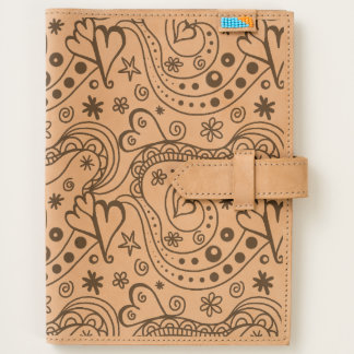Black and White Hearts Love Artsy Doodle Pattern Journal