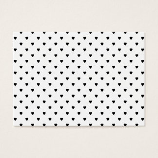 Black and White Hearts Pattern. Business Card