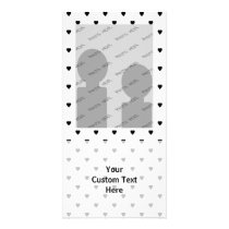 Black and White Hearts Pattern. Card