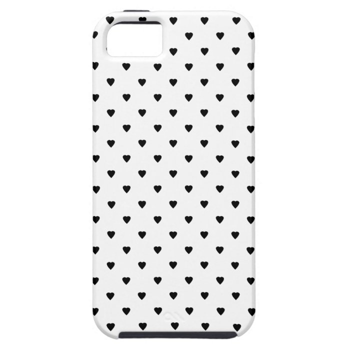 Black and White Hearts Pattern. iPhone SE/5/5s Case