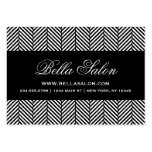 Black and White Herringbone Large Business Card