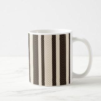 Black and White Herringbone Pattern Coffee Mug