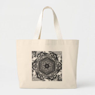 Black and White hex ribbon Dec 2012 Large Tote Bag
