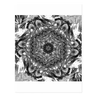 Black and White hex ribbon Dec 2012 Postcard