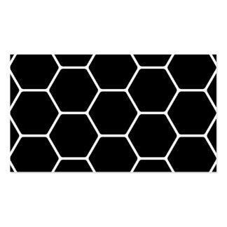 Black and White Hexagon Design. Double-Sided Standard Business Cards (Pack Of 100)