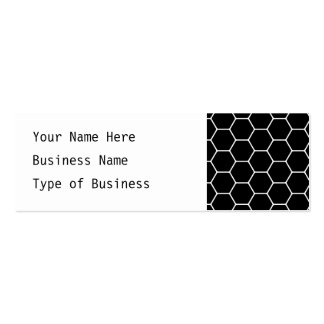Black and White Hexagon Design. Double-Sided Mini Business Cards (Pack Of 20)