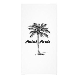 Black and White Hialeah & Palm design Card