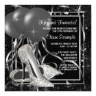 Black and White High Heels Womans Birthday Party Card