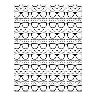 Black and White Hipster Retro Glasses Pattern Personalized Letterhead