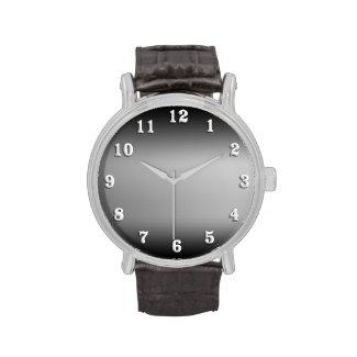 Black and White Horizon Wristwatch