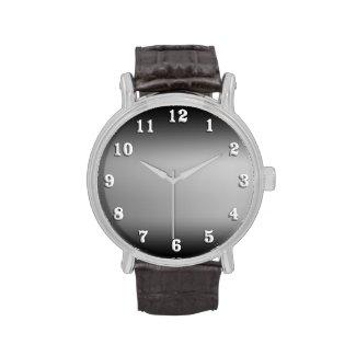 Black and White Horizon Wristwatch