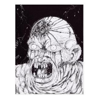 Black And White Horror Art Postcard