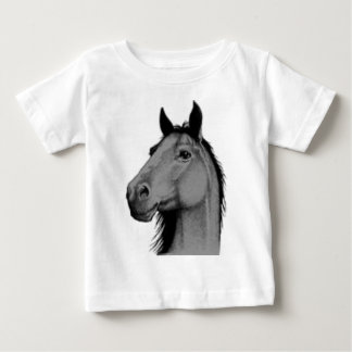 black and white horse baby T-Shirt