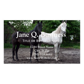 Black and White Horse Business Card Templates