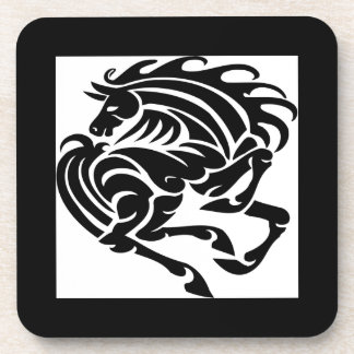 Black and White Horse Beverage Coasters