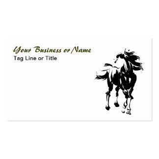 Black and White Horse Equestrian Business Cards