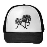Black and White Horse Mesh Hats