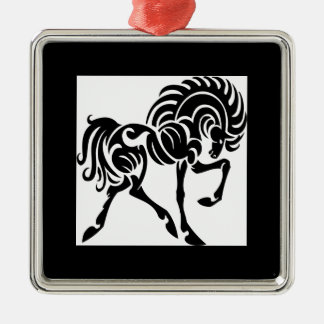 Black and White Horse Christmas Ornaments