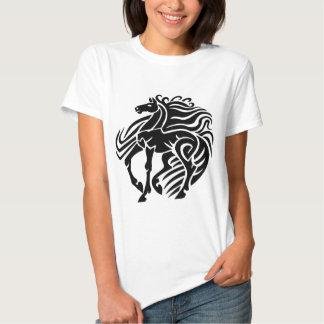 Black and White Horse Tee Shirt