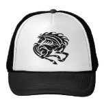 Black and white horse trucker hat