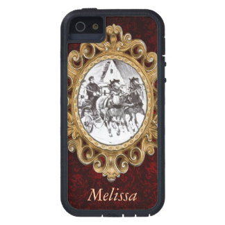 Black and White Horses and Carriage iPhone 5 Case