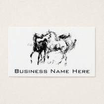 Black and White Horses Business Card