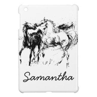 Black and White Horses iPad Mini Cases