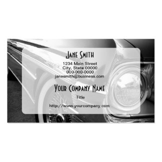 Black and White Hot Rod Business Card Templates