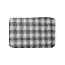 Black and White Houndstooth Bathroom Mat