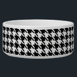 "Black and White Houndstooth Bowl<br><div class=""desc"">Black and white houndstooth is a traditional favorite that is always in style.</div>"