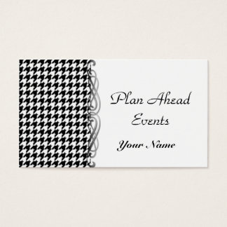 Black and White Houndstooth Business Card