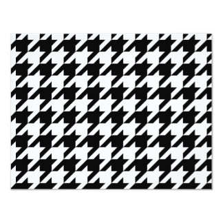 Black and White Houndstooth Card