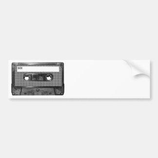 Black and White Houndstooth Cassette Bumper Sticker