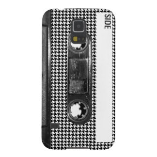 Black and White Houndstooth Cassette Galaxy S5 Cover