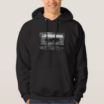 Black and White Houndstooth Cassette Hoodie