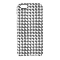 Black and White Houndstooth Clear iPhone 6/6S Case