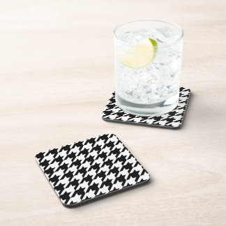 Black and White Houndstooth Coaster