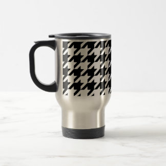 Black and White Houndstooth Coffee Mugs