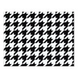 Black and White Houndstooth 4.25x5.5 Paper Invitation Card