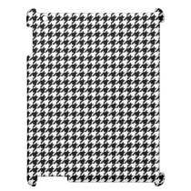 Black and White Houndstooth iPad Cover