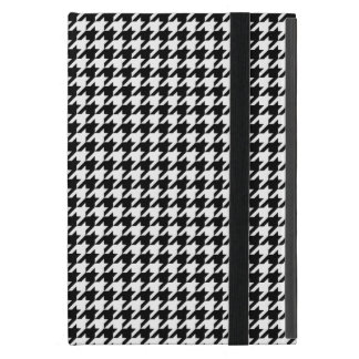 Black and White Houndstooth iPad Mini Case
