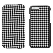 Black and White Houndstooth iPhone 6/6s Wallet Case