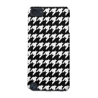 Black and white Houndstooth iPod Touch (5th Generation) Cover