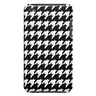Black and white houndstooth iPod touch case