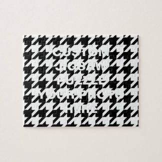 Black and White Houndstooth Jigsaw Puzzle
