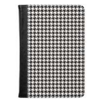 Black and White Houndstooth Kindle Case